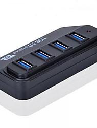 Alta velocidad 5Gbps de 4 puertos USB3.0 Hub con luz indicadora