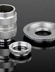 25mm F1.4 CCTV Lens + Macro Rings + C-NEX adapterring set voor Sony NEX-5C NEX-7 etc - Zilver