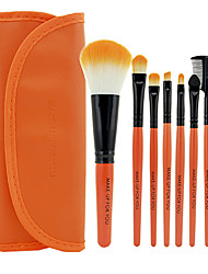 Make-up For You® 7pcs Makeup Brushes set Limits bacteria Orange Eyeshadow/Blush/Lip Brush Eye Brow Brush Makeup Kit Cosmetic Brushes Tool set