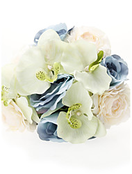 Round Shape Satin Wedding Bouquet
