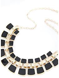 Élégant en alliage combinée avec Square collier de perles de résine (plus de couleurs)