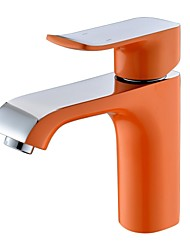 Contemporary Widespread Single Handle One Hole in Painting Bathroom Sink Faucet