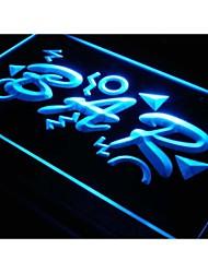 I069 OPEN MINI BAR PUB CLUB Muestra la luz de neón