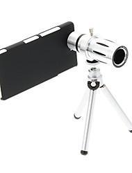 Увеличить 12X телефото Металл мобильного телефона объектива с треногой для Sony L36H
