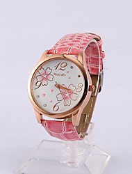 Womage Frauen Floral Rose Fall Uhr (Pink)