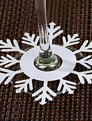 Place Cards and Holders Snowflake Shaped Place Cards for Wine Glass - Set of 12