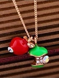 Apple Short Pendant Necklace Sweater Chain