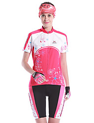 MYSENLAN Bike/Cycling Clothing Sets/Suits Women's Short Sleeve Breathable / Quick Dry / Wearable Spandex / 100% Polyester / Polyamide