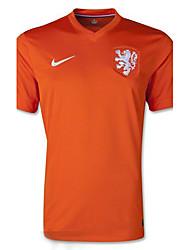 Maillots 2014 Monde Coupe du Monde de la Coupe des Pays-Bas match à domicile orange (fans)