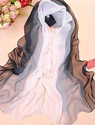 Женская Элегантный черный Ветер День Крем для загара шифон шарф