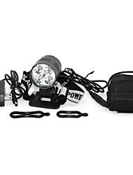 Marsing 5 x Cree XM-L T6 4000lm 3-Mode Cool White LED Bike Light / Headlamp - Black and Grey (6*18650)