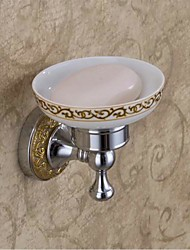 Contemporary Style Chrome Finish Bathroom Brass Soap Dishes