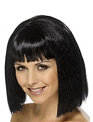 Capless Bob Black Style Synthetic Party Wig