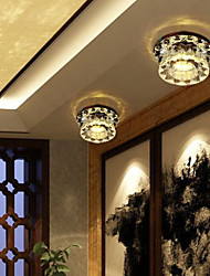 3W Flush Mount ,  Modern/Contemporary Others Feature for Crystal Crystal Living Room / Bedroom / Dining Room
