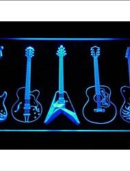 armas de guitarra salón de banda signo luz de neón