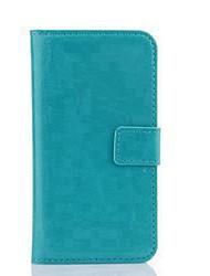 Для Кейс для Motorola Кошелек / Бумажник для карт / со стендом / с окошком / Флип Кейс для Чехол Кейс для Один цвет ТвердыйИскусственная