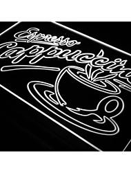i220 ОТКРЫТОЕ Эспрессо Капучино Кофе Кафе света Вход