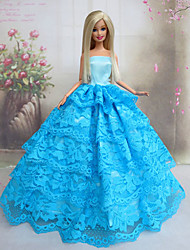 Princesse Robes Pour Poupée Barbie Bleu Robes Pour Fille de Doll Toy