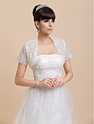 Short Sleeve Lace Wedding/Special Occasion/Casual Wraps Bolero Shrug