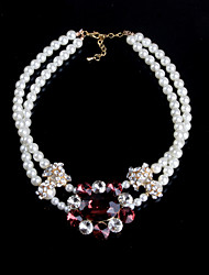 LOTINB Queen Model Handgemaakte Gemstone Pearl Necklace (Screen Kleur)