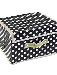 Belt and multi-functional underwear box folding bin with a cover on it