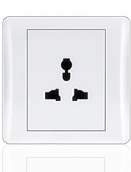 3-Pin Plug Panel Blanc Commutateur