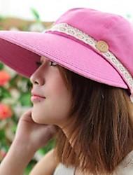 Frau Sommer Neue Schaltfläche Abnehmbare Leere Hat Sonnencreme und große Hüte Dark Red