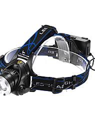Освещение Налобные фонари LED 1200 Люмен 3 Режим Cree XM-L T6 18650 Фокусировка / Водонепроницаемый / Перезаряжаемый Многофункциональный