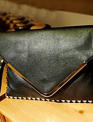 Donna Fashion Street Rivet Tote Shoulder Handbag Messenger Bag