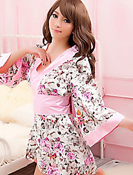 Japanese Nifty Girl Pink Polyester Women's Ethnic Costume