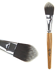 High Quality Synthetic Hair Bamboo Handle Makeup Foundation Brush