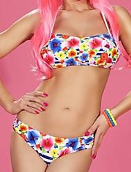 Moda feminina Sexy Floral Imprimir Swimwear