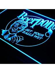 pong da cerveja receberá seu bolas bar molhado sinal de luz neon