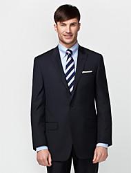 azul 100% lana oscura adapta ajuste traje de dos piezas