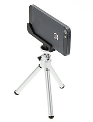 I-12-2-SL Mini Desktop Aluminum Tripod with Single-deck Two Sections & iPhone 5S/5 Tripod Mount Holder