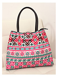 Smilling Hot Sell Shopping Bag Floral Print Satchels