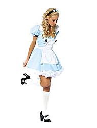 Costumes de Cosplay / Costume de Soirée Conte de Fée Fête / Célébration Déguisement Halloween Bleu Mosaïque Robe Halloween / Carnaval