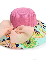 Damenmode große Bowknot Folding Strand-Hut