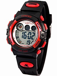 Time100 kinderen multifunctionele waterdichte digitale wijzerplaat pu band Outdoor Sport Elektronische Watch