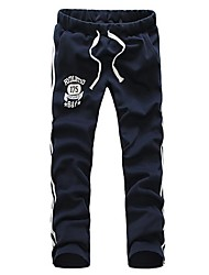 Men's Print Casual / Sport Sweatpants,Cotton / Others Blue / Gray