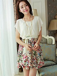 Women's Dress,Floral Mini Short Sleeve Summer