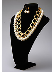 Rich Long Pearl Elegant Necklace And Earring Suit YL00422