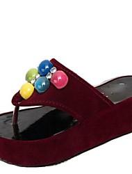 Suede Women's Wedge Heel Platform   Sandals Shoes (More Colors)