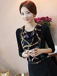 Прохладный Женская с длинным рукавом шифон рубашка