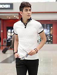 T-Shirt Print Branco Floral de Fhonier Homens