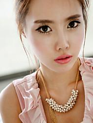 winzige Frauen mehrschichtigen Perle Quasten Halskette