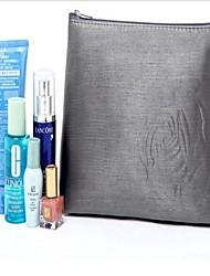 Luxe Modeste gris argenté des femmes Rose Grand Maquillage Capacité sac
