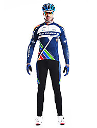 MYSENLAN Men's Cycling Suits Long Sleeve Bike Spring / Autumn Thermal / Warm / Breathable / Quick Dry / Wearable / Windproof BlueL / XL /