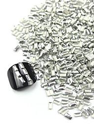 300PCS 3D Silver Rectangle Alloy Nail Art Golden&Silver Decorations