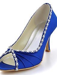 Women's Wedding Shoes Heels/Peep Toe/Open Toe Heels Wedding/Party & Evening Black/Blue/Yellow/Pink/Purple/Red/Ivory/White/Silver/Gold